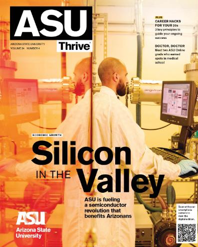 ASU Thrive Magazine Fall 2021 cover page