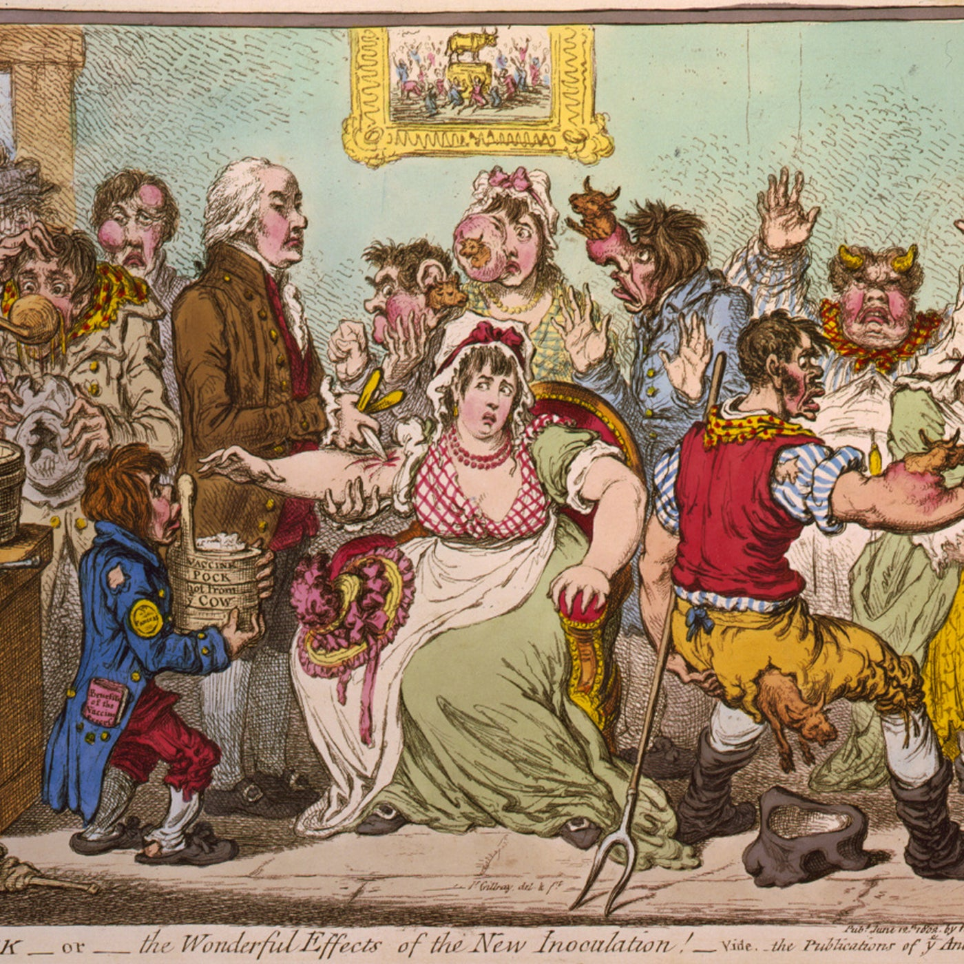 18th century editorial illustration of people with diseases