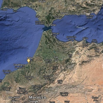 Contrabandiers cave, Morocco map