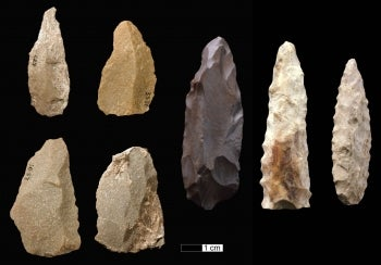 Lithic stone tools