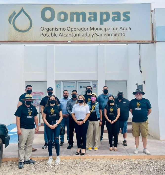 TEAM students and faculty at Puerto Penasco Water Supply and Treatment Agency