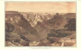 """Illustration of the Grand Canyon from the """"Tertiary History of the Grand Cañon District with Atlas."""""""