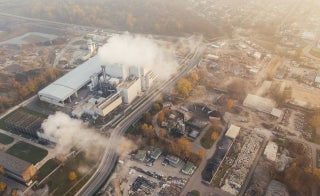 factory polluting the environment