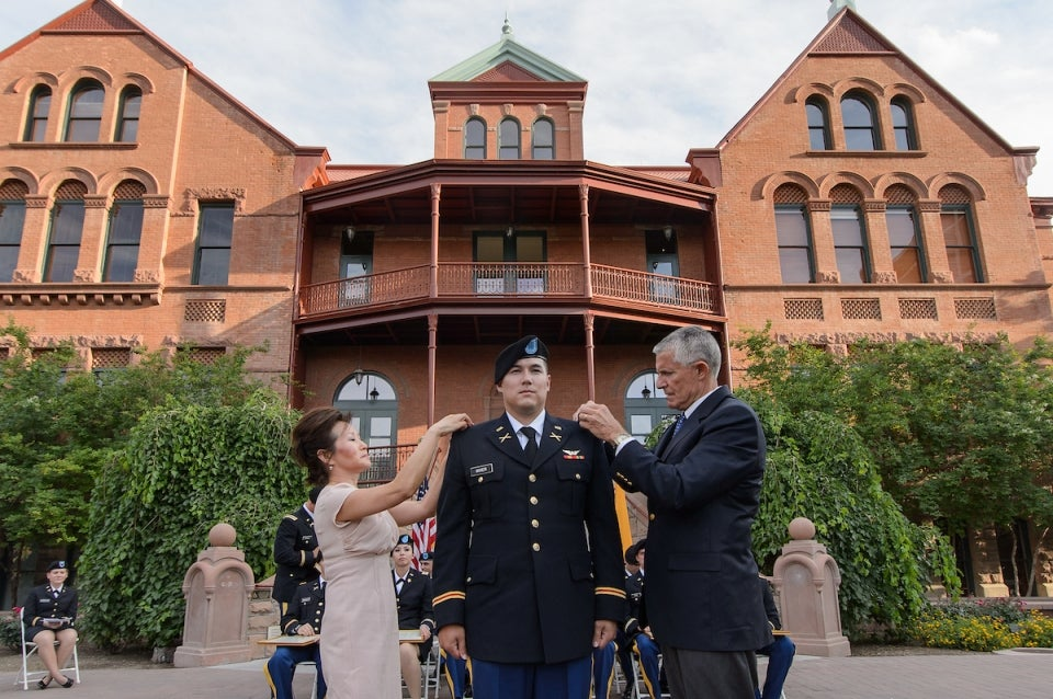 Spring 2013 Army Pinning Ceremony on Old Main Lawn