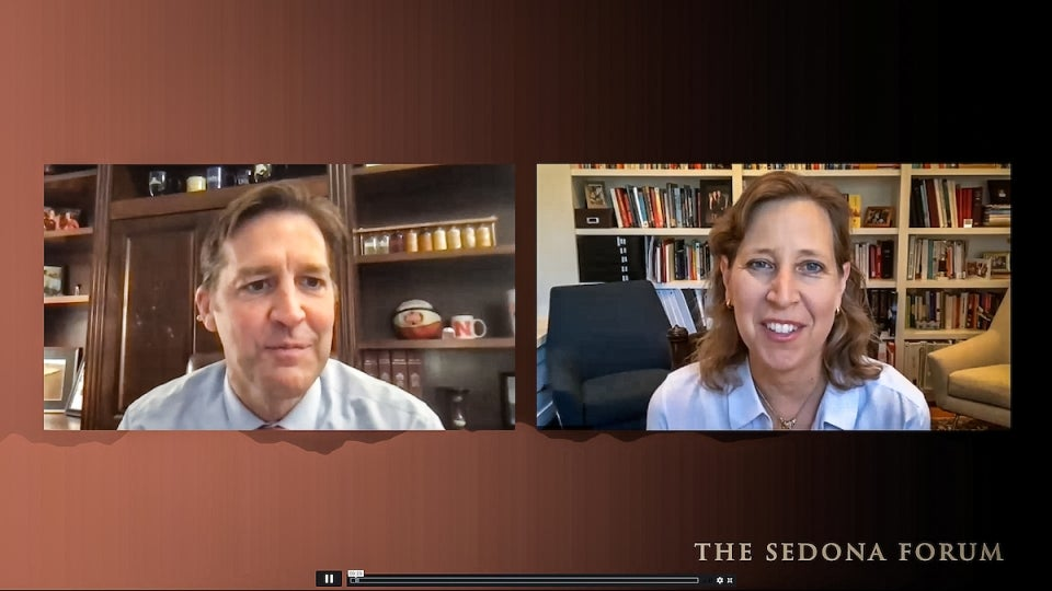 Ben Sasse and Caroline Wojcicki