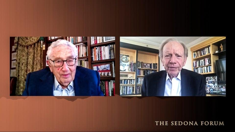 Henry Kissinger and Joe Lieberman