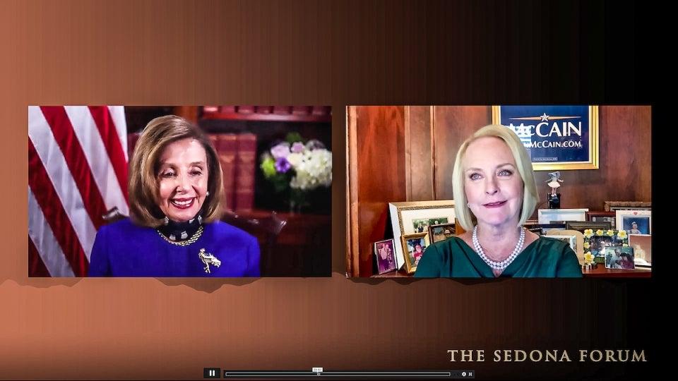 Nancy Pelosi and Cindy McCain