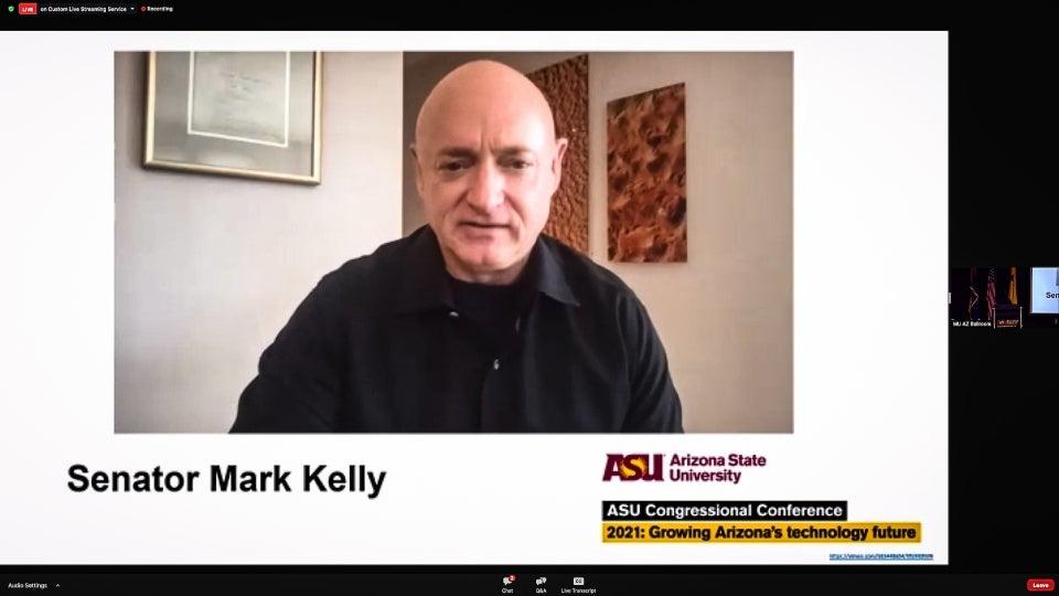 AZ Senator Mark Kelly on Zoom video