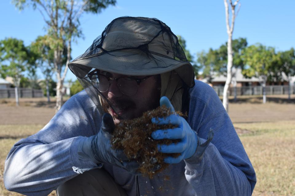 Photo of NSF-GRFP Fellow Andrew Burchill in the field