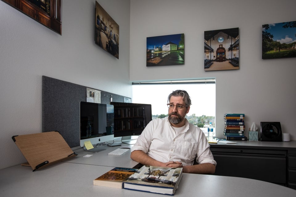 ASU Assistant Professor of history Stanley Mirvis in his office