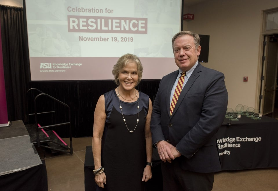 Judith Rodin and Michael crow