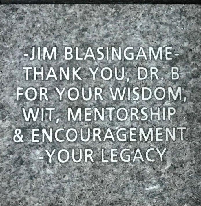 Jim Blasingame - Thank you, Dr. B for your wisdom, wit, mentorship & encouragement - your legacy.