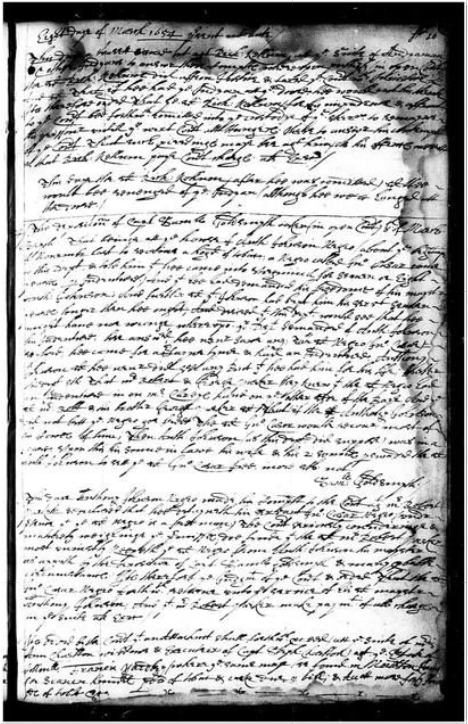 Handwritten court ruling for Anthony Johnson and his servant John Casor