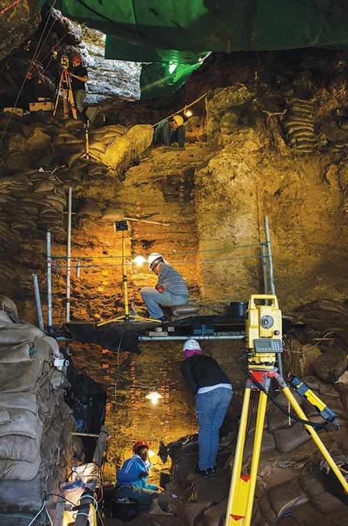 ASU researchers work belowground in Hadar, Ethiopia
