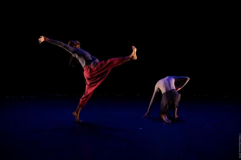 Photo of ASU dance alum J. Bouey dancing