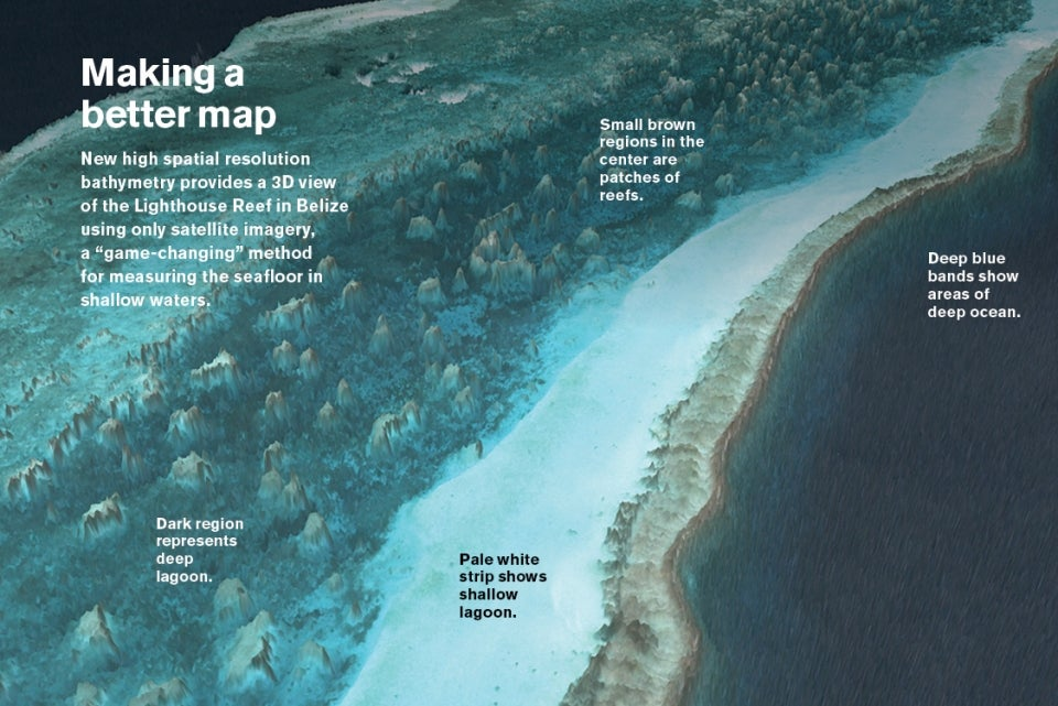 Infographic about mapping the ocean floor