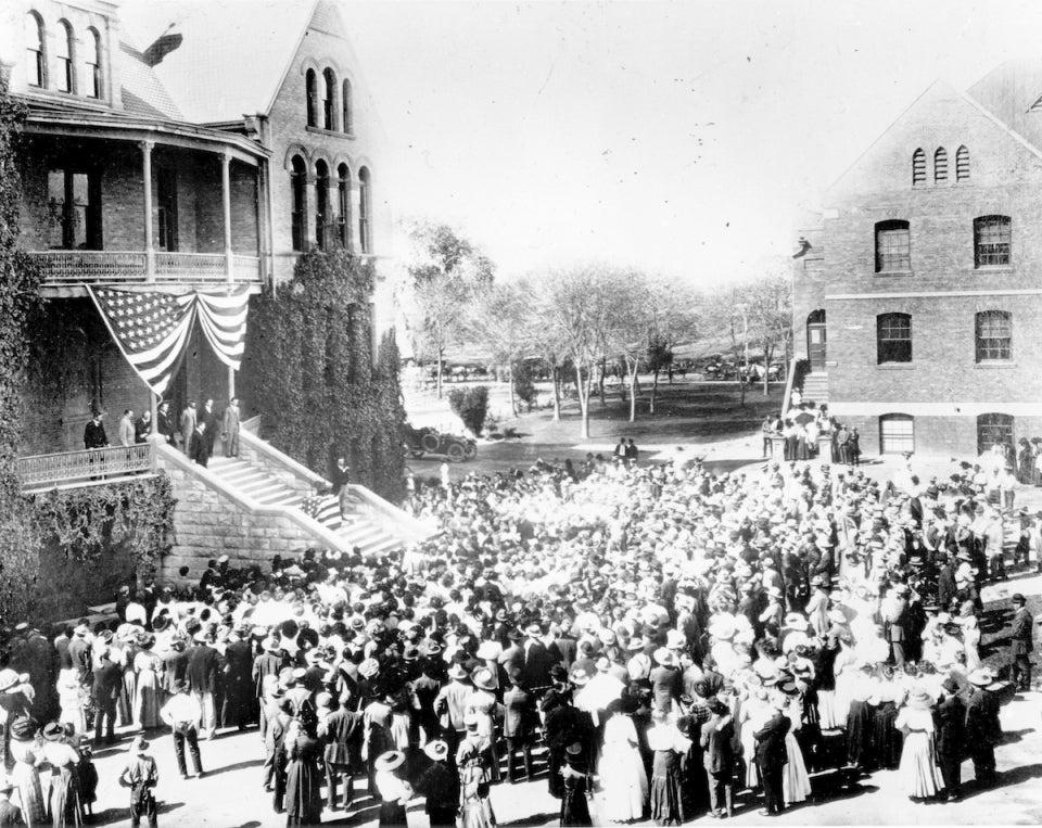 Teddy Roosevelt at Old Main, ASU