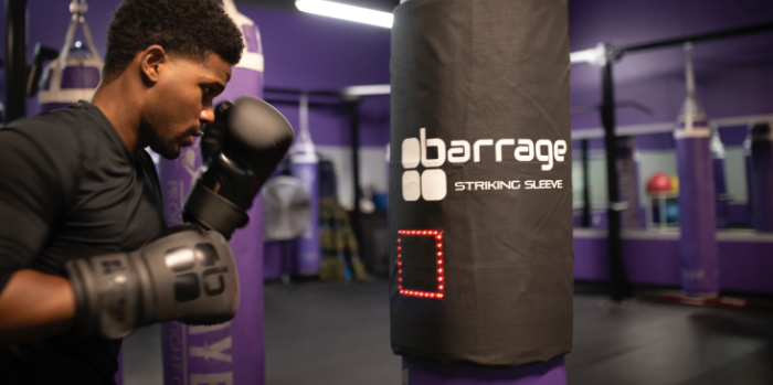 Ricky Johnson demonstrates the Barrage Striking Sleeve