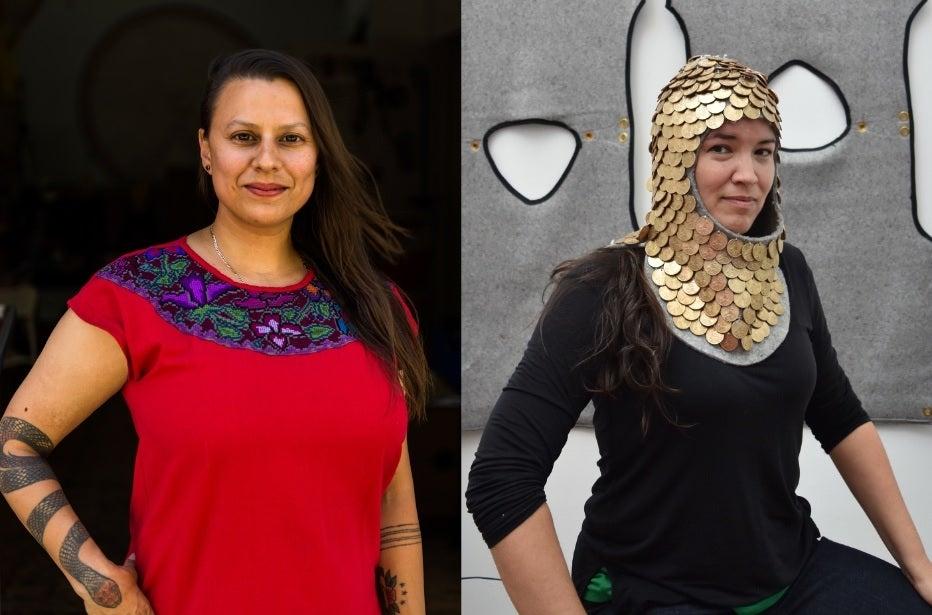 headshots of two women, side by side