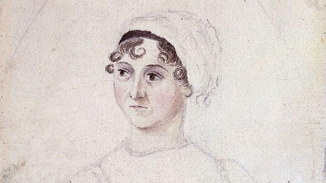 drawing of Jane Austen