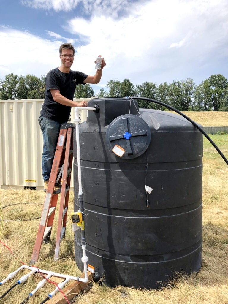 ASU researcher Leon van Paasen at earthquake engineering project site