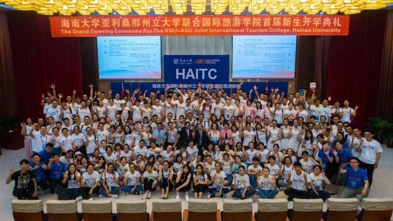 HAITC, students, first cohort, ASU, Hainan University, fall 2017