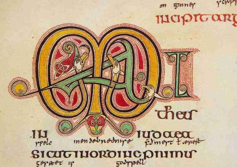 Lindisfarne Gospels Initial (by manuscript_nerd on Flickr under CC 2.0)