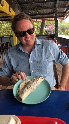 man at Honduras restaurant