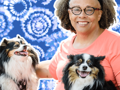 Author and dogs