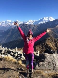 Courtesy photo of graduating ASU student Swatio Shrestha on top of a Himalayan peak.