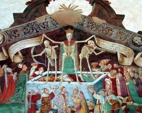 historic illustration representing the plague