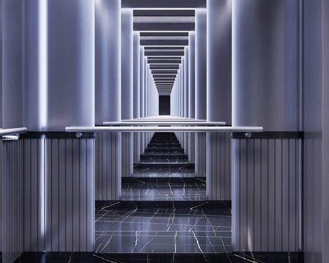View of an ongoing hallway